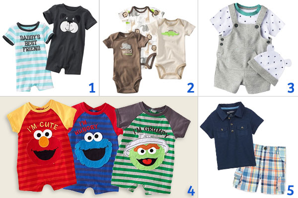 Various Baby Clothing For Boys