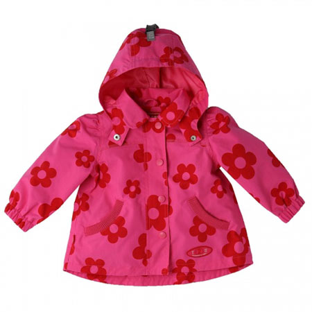 Pink flowered Baby Jacket