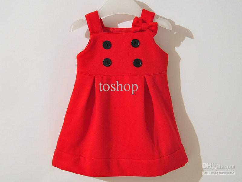 cute button baby dress 2015