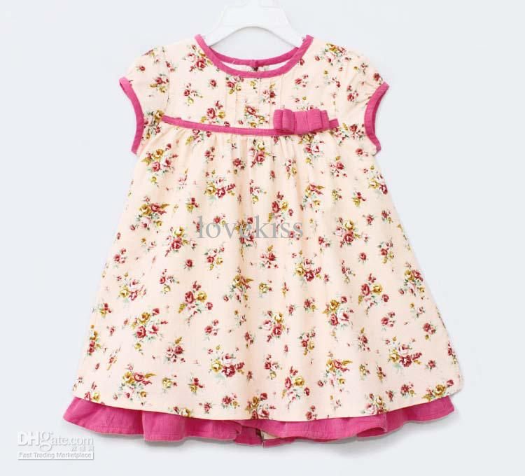 flowered baby girl dress 2015