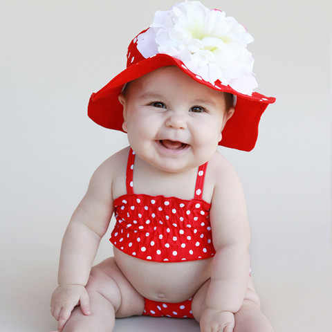 Flowered Baby Girl Hats