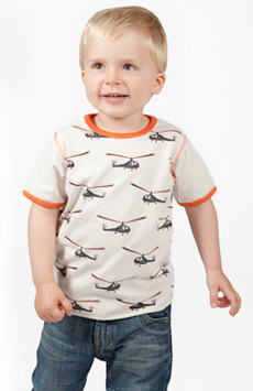 Helicopter Pattern Clothing Kids