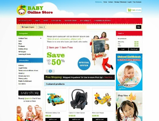 Colorful Online Baby Stores