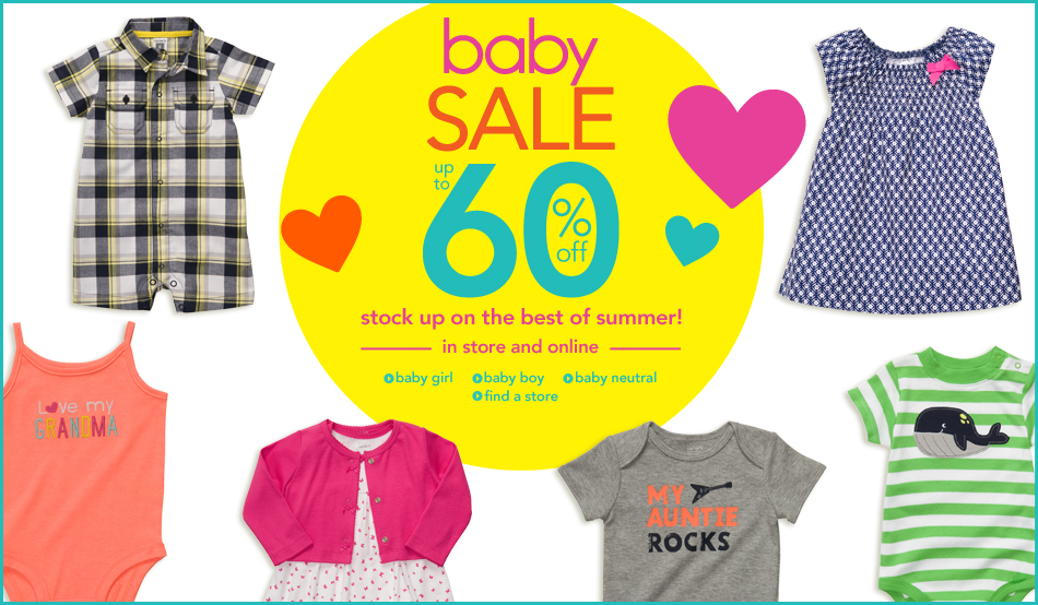 60%! Baby Clothes On Sale