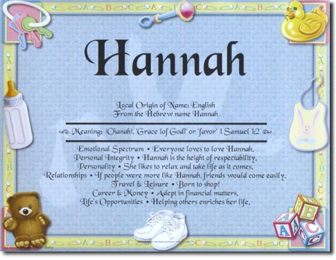 Hannah Baby Name Meaning