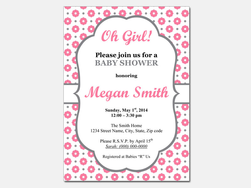 Easy Baby Shower Invitation Templates