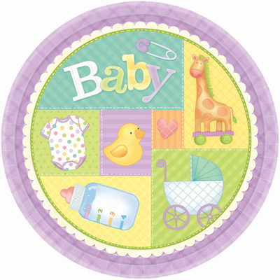 Radiant Baby Shower Plates