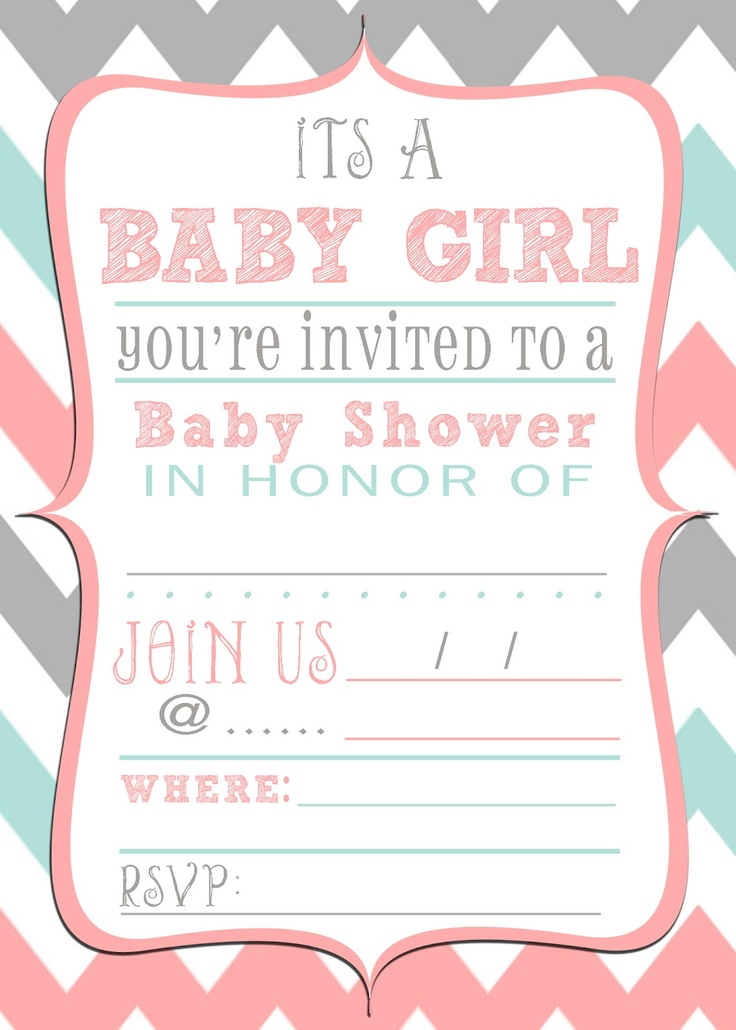 Get Free Printable Baby Shower Invitations