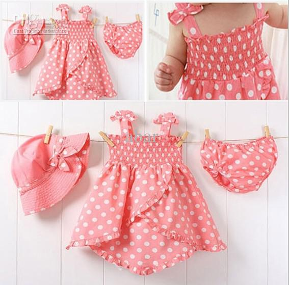 Dots Girl Baby Clothes