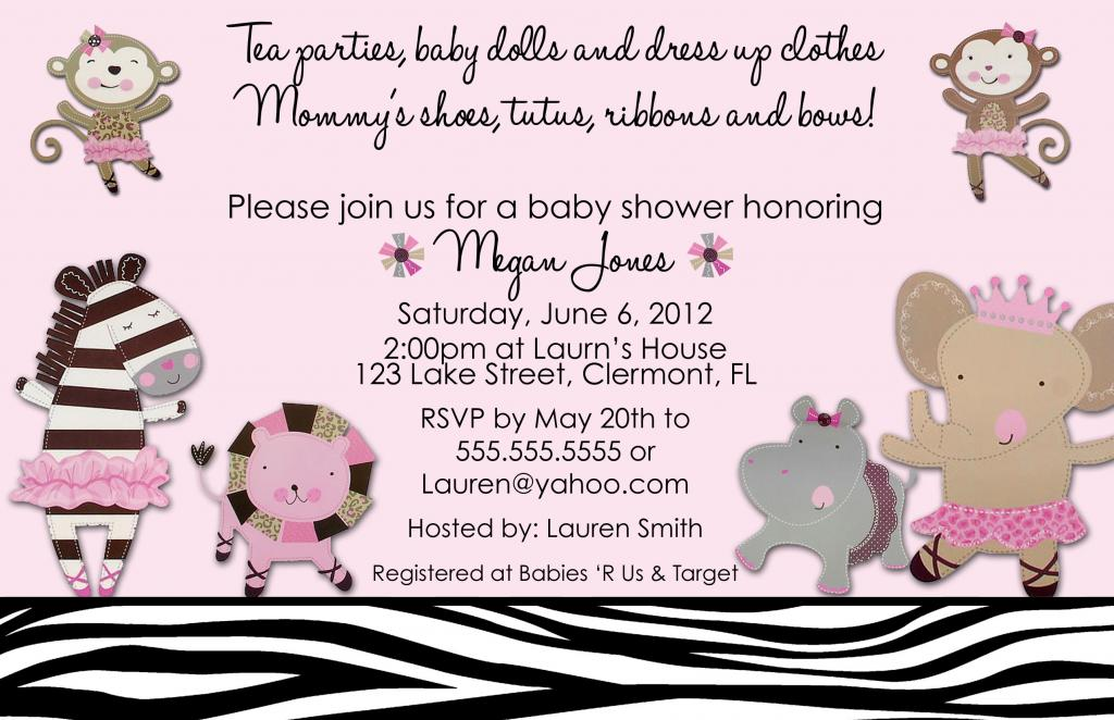 Sweet Girl Baby Shower Invitations