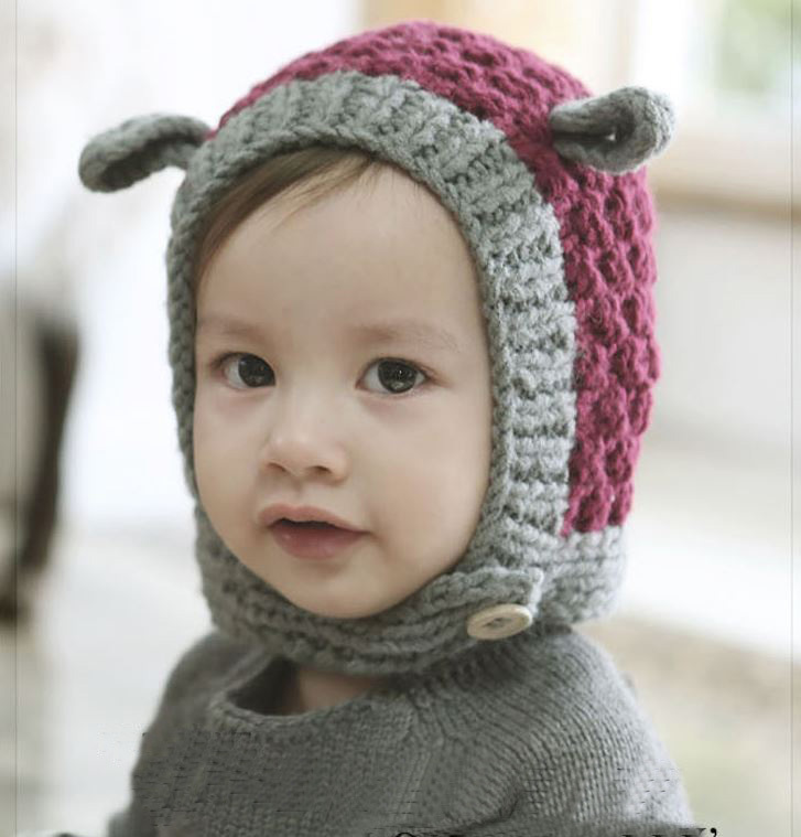 Eared Knitted Baby Hats