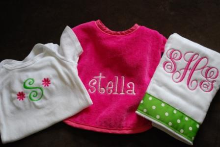 Monogrammed Baby Gifts