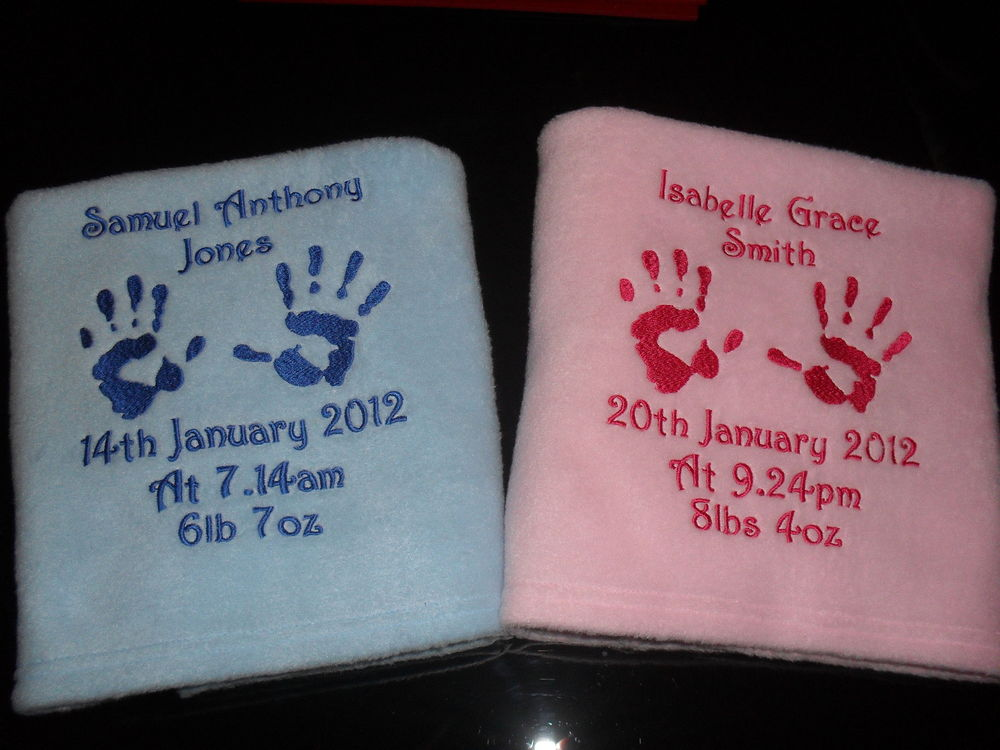 Unique Personalised Baby Blankets