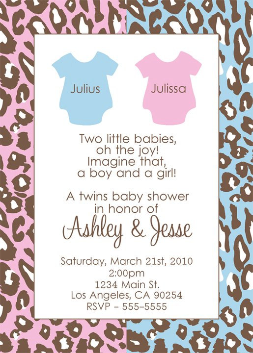 Twin Baby Shower Invitations 2015
