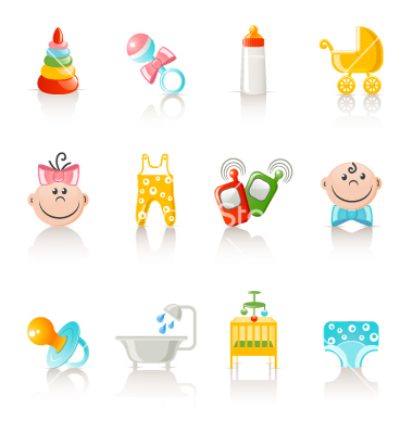 Icons on Baby Accessories