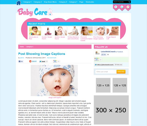 Baby care Baby Website