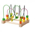 Ikea Wooden Bead Roller Coaster, Multicolor