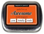 Magnetic Poetry – Little Box of Awesome Kit – Words for Refrigerator – Write Poems and Letters on the Fridge – Made in the USA