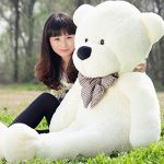VILAVI 47″ White color 120CM Giant Huge Cuddly Stuffed Animals Plush Teddy Bear Toy Doll