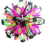 Mini Sphere Toy Rings Stretch Expanding Ball Toys Funny for Kids – Pink/Purple/Green/Orange/Black