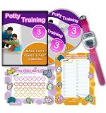 Potty Training In 3 Days – Ultimate Potty Training for Girls. Complete Kit Includes Potty Training In 3 Days Audio Guide, Laminated Potty Training Charts & Pink Potty Time Watch (Pink)