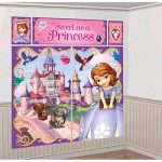 Disney Sofia The First Princess Birthday Party Scene Setters Decoration (5 Pack), Multi Color, 59″ x 65″.