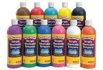 Colorations Simply Washable Tempera Paint – 16 oz., Set of 11 Colors (Item # SWT16)