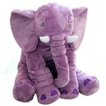 Baby Elephant Plush Pillow Cushion Toy Purple, 24 Inches