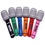 OULII Inflatable Microphones Plastic Microphone Kids Party Favor Toy Gift, 6-Pack, Random Color