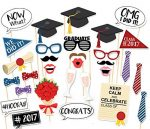 30PCS Style Graduation Party Masks Photo Booth Props Mustache On A Stick Grad Party by 7-gost