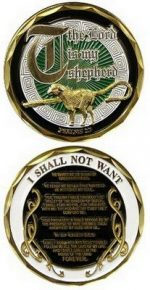 Psalm 23 The LORD is my Shepherd Military Challenge Coin