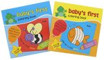 Coloring Books for Kids: Baby's First Coloring Book Coloring & Educational Books. Learning Coloring featured Letters and Flowers, Animals and Objects. Paper Craft. 2 Pack