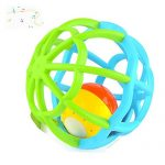 Music and Colorful Lights Soft Activity Ball Baby toddler Teether Rattles Teething Goodway Bed Bells Toy, Blue