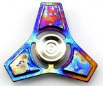 DMaos, Tri-Spinner Fidget Spin Toy Smooth Surface Metal TITANIUM Alloy With Premium Hybrid Ceramic Bearing Ultra Durable Gorgeous – Starry sky