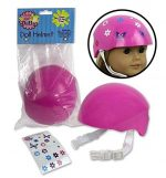 Doll Bike Helmet – Pink Bike Helmet with Easy Strap and Decorate Yourself Decals – Fits American Girl