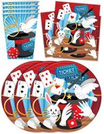Magic Show Birthday Party Supplies Set Plates Napkins Cups Tableware Kit for 16
