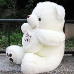 Vercart 3 Foot 36″ White I Love You Giant Cuddly Stuffed Animals Plush Sweatheart Teddy Bear Toy Doll