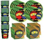 Ninja Master Birthday Party Supplies Set Plates Napkins Cups Tableware Kit for 16 by Birthday Galore