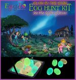 Egglo Glow in the Dark Easter Egg Kit (Religious) – Fun Christian Easter Activity for Your Kids – Includes Egg Fillers Toys, Easter Book/ DVD and Bonus Egg Hunt Guide