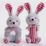 Baby Girl Toys- Soft Rattle and Sqeaker Set- Plush Pink Bunny- Sensory Activity Cute Unique Shower Gifts Idea for Newborn 0 to 24 months old Infant New Babies Twins