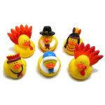 Fun Express Rubber Duckie Ducky Thanksgiving Ducks Party Favors Set (12 Piece)
