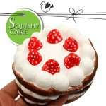 Squishy Cake, Twotwowin Squishies Slow Rising 4.3 inch Big Chocolate Birthday Cake Scented Hand Wrist Toy Soft Simulation Collection