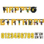 Lego Batman Jumbo Custom Age Letter Banner – Printed Paper Birthday Party Supplies