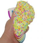 Bhbuy Colossal Colorful Sandwich Triangle Cake Sugar Cream Scented Bread Slow Rising Squeeze Stress Toy