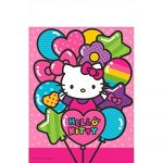 Adorable Hello Kitty Rainbow® Plastic Table Cover Birthday Party Tableware Decoration (1 Piece), Pink, 54″ x 96″.