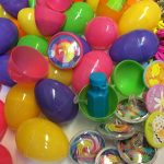 100 Toy Filled Easter Eggs, Surprise Eggs Filled with Easter Goodies, 100 Pack Great for Easter Eggs School Hunt, Surprise Eggs Hinged Together