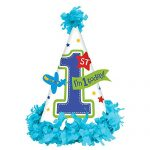 All Aboard! Birthday Party Cone Hat Favours, Multi Colored, Paper, 7″ x 5″, 1-Piece