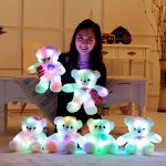 15″ Super Cute Teddy Bear Little Stuffed Toys, Sparkling Light Up Plush Toy with Colorful Flash LED Light-emitting, Light Toys for Children's Day Present ( Wings of Love, 38cm)