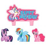 Party Time My Little Pony Friendship Molded Mini Character Birthday Candle Set, Pack of 4, Pink , 1.25″ Wax