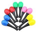 Tosnail Musical Toys Rhythm Plastic Egg Maracas Party Favor – Value Pack of 10 in 5 colors